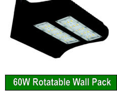 60W Rotatable Wall Pack