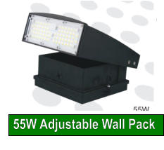 55W Adjustable Wall Pack