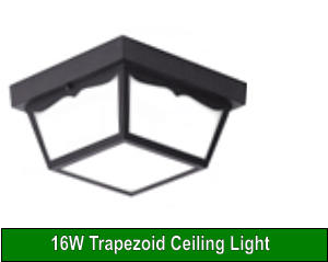 16W Trapezoid Ceiling Light